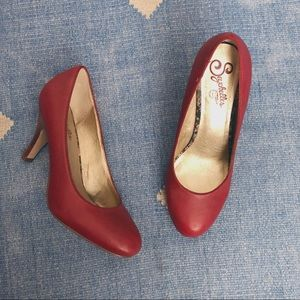 Seychelles red classic pumps heels leather size 8